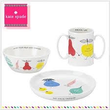 salada bowl rakuten global market kate spade baby dinnerware