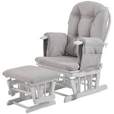 Armchair Breastfeeding Buy Kub Haywood Reclining Glider Nursing Chair And Footstool Grey