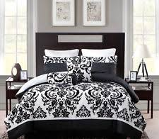 Black Comforter King Black And White Bedding Ebay