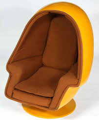 1970 vintage lee west alpha chamber egg pod stereo chair at