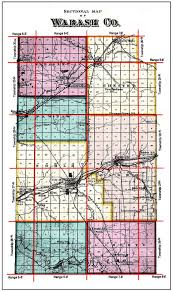 Map Of Indiana Counties Wabash County Indiana Genealogy