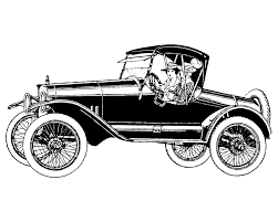 old cars black and white car clipart hd