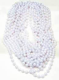 white beads necklace images 48 quot large 10mm pearl party bead necklaces 12 black white jpg