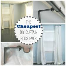 Putting Curtain Rods Up The Cheapest Diy Curtain Rods Ever Lovely Etc