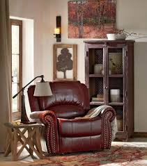 Brown Leather Armchair Design Ideas Room Charming Living Room Reading Nook Design With Brown