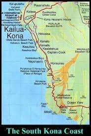 map kona usa south kona coast map hawaiʻi hawaii big island