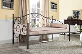 Wrought Iron Daybed Living Room Fair Image Of Living Room Decoration Using Brown