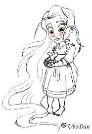 baby princess rapunzel coloring pages