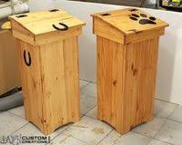 diy wooden trash can google search woodworking crafts