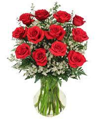 dozen roses roses and wispy whites classic dozen roses in columbus wi