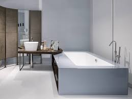 ergonomic bathroom system from makro integrates bathtub shower