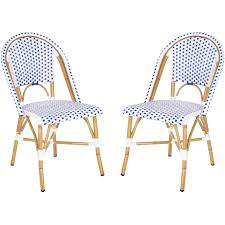 Stackable Wicker Patio Chairs Safavieh Salcha Indoor Outdoor Stacking Arm Chair Set Of 2