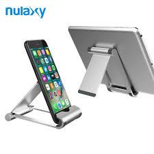 support t hone portable bureau nulaxy en alliage d aluminium support pour téléphone réglable