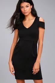 swan dress black swan vera black sheath dress cold shoulder dress