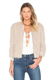 cupcakes and cashmere jessica faux fur jacket in sand revolve