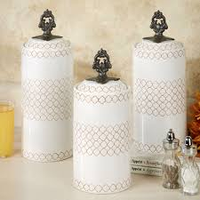 furniture cream ceramic fioritura kitchen canister sets for