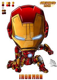 colo chibi ironman fist mark43 avenger2 by naruttebayo67 on