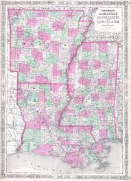 Maps Of Louisiana by File 1864 Johnson Map Of Louisiana Mississippi And Arkansas