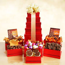 basket gifts godiva tower of gift basket hayneedle