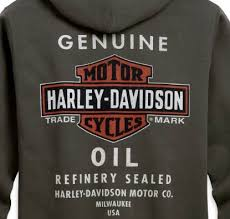 99131 10vm harley davidson mens genuine oil can zip front