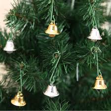 20mm metal golden silver small bell trumpet bells for tree
