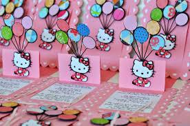 Hello Kitty Birthday Invitation Card Jingvitations Hello Kitty Pop Up Balloon Birthday Invitations