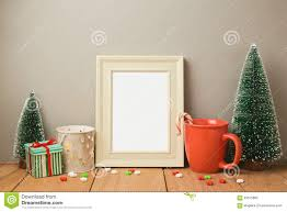 poster frame mock up template for christmas holiday greeting