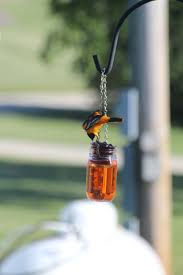 oriole feeder orange colored water in a jar fill a votive cup