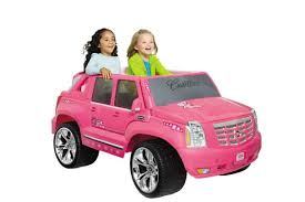 real barbie cars power wheels barbie cadillac hybrid escalade ext 12 volt ride on