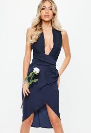 navy blue dress blue dress navy light royal blue dresses missguided