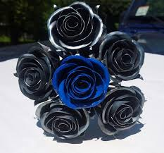 metal roses metal wedding bouquet custom painting bridal bouquet