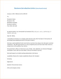 Letter Of Business Introduction Sample by Letter Of Introduction For A Business