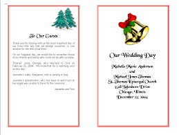 wedding program layout template wedding program template order form