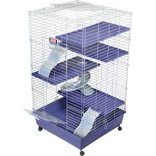 Cheap Rat Cage Amazon Com My First Home Multi Level Cage With Casters 24 By 24