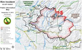 yosemite rim fire map sierrapundit com