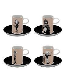 coffee cups set 4 coffee cups u0026 saucers actors a viagem vista alegre