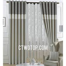 Gray Curtains For Bedroom Bedroom Modern Printed Decorative Beige And Gray Striped Curtains