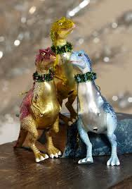 make it a cretaceous dinosaur ornaments geekologie