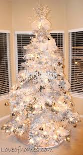 White Christmas Tree Silver Decorations by Love Of Homes Christmas Decor A Silver U0026 White Tree
