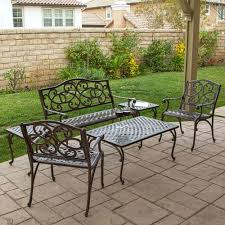 Cast Aluminum Lounge Chairs Vintage Cast Aluminum Patio Furniture Chaise Lounge With Chairs
