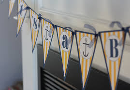ahoy it u0027s a boy nautical baby shower theme pennant flag banner