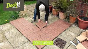 floor how to install bamboo interlocking deck tiles with cement