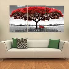tableau pour bureau king do way set de 3 grand arbre impressions sur