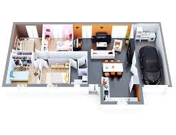 chambre top model plan villa plain pied 4 chambres 18 plan maison individuelle