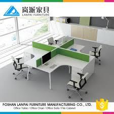 bureau poste de travail kl09 foshan debout ordinateur de bureau 4 places poste de travail
