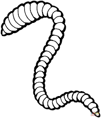 worm coloring pages to download and print for free