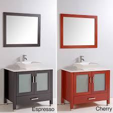 artifical top 36 single vessel sink bathroom vanity with