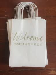personalized gift bags lettered gift bags pen and letter