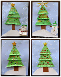 how christmas tree card ideas for kids to make pop up