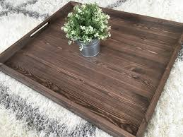 Wooden Serving Trays For Ottomans by Rustic Wooden Ottoman Tray Ottoman Tray Wooden Tray Rustic